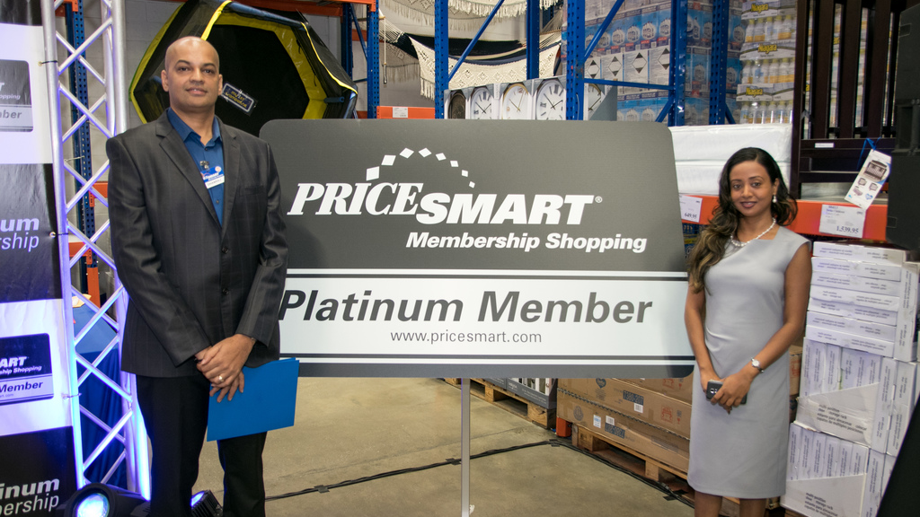 PriceSmart Operations Vice President, Dhanraj Mahabir and Donna Thomas, Country Marketing and Membership Manager