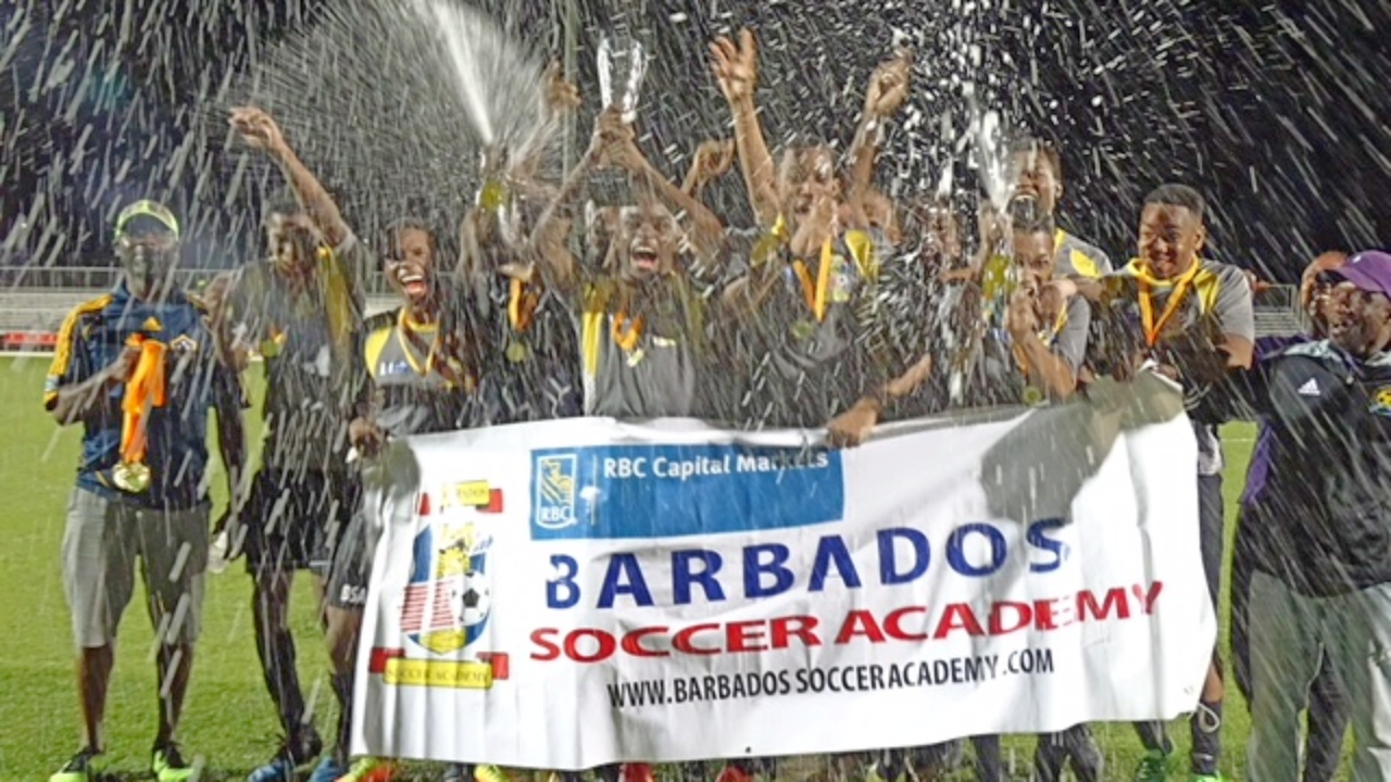 The Barbados Soccer Academy (BSA) celebrated their 16th birthday with the Division One title.