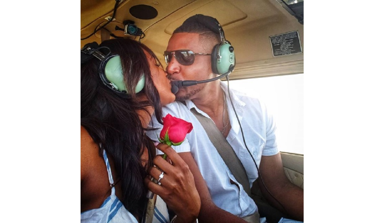 Dr Sara Lawrence with boyfriend Major Noel Lewis after his proposal. (PHOTO: Instagram)