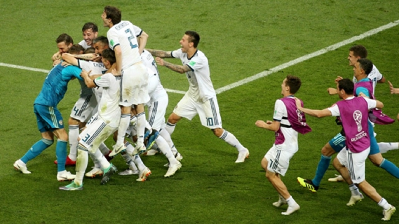 Russia defeated Spain to reach the World Cup quarter-finals.