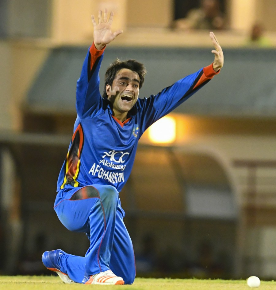 Rashid Khan bowled 16 dot balls in a spell of 2/9