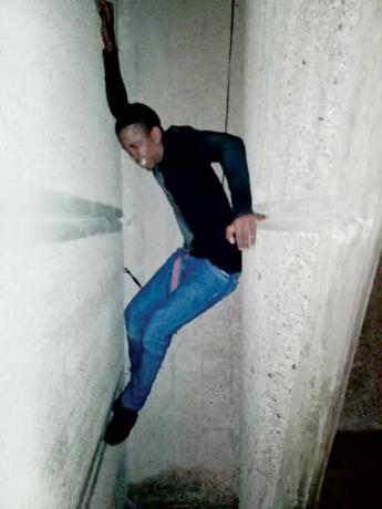 Un Haïtien arrêté en RD après avoir pillé l'offrande d'une église. Photo: Listin Diario