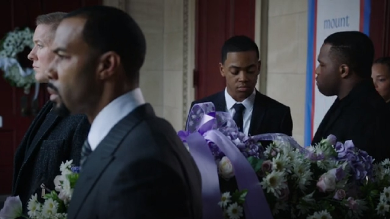 Jarayne Pinnock (right) appears in a scene in the season premiere of the hit Starz television series, 'Power'.