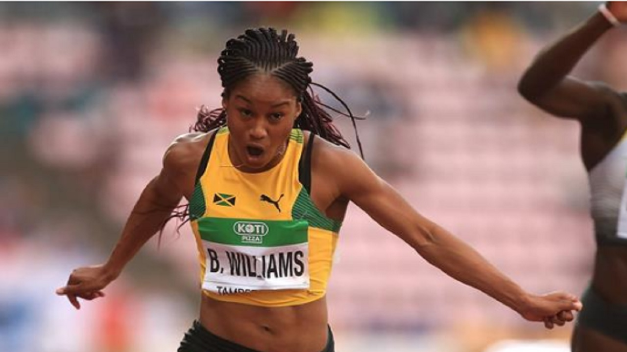US-based Jamaican sprinter Briana Williams wins the women's 100m final on day 3 of the IAAF World Under-20 Championships in Tampere, Finland on Thursday.