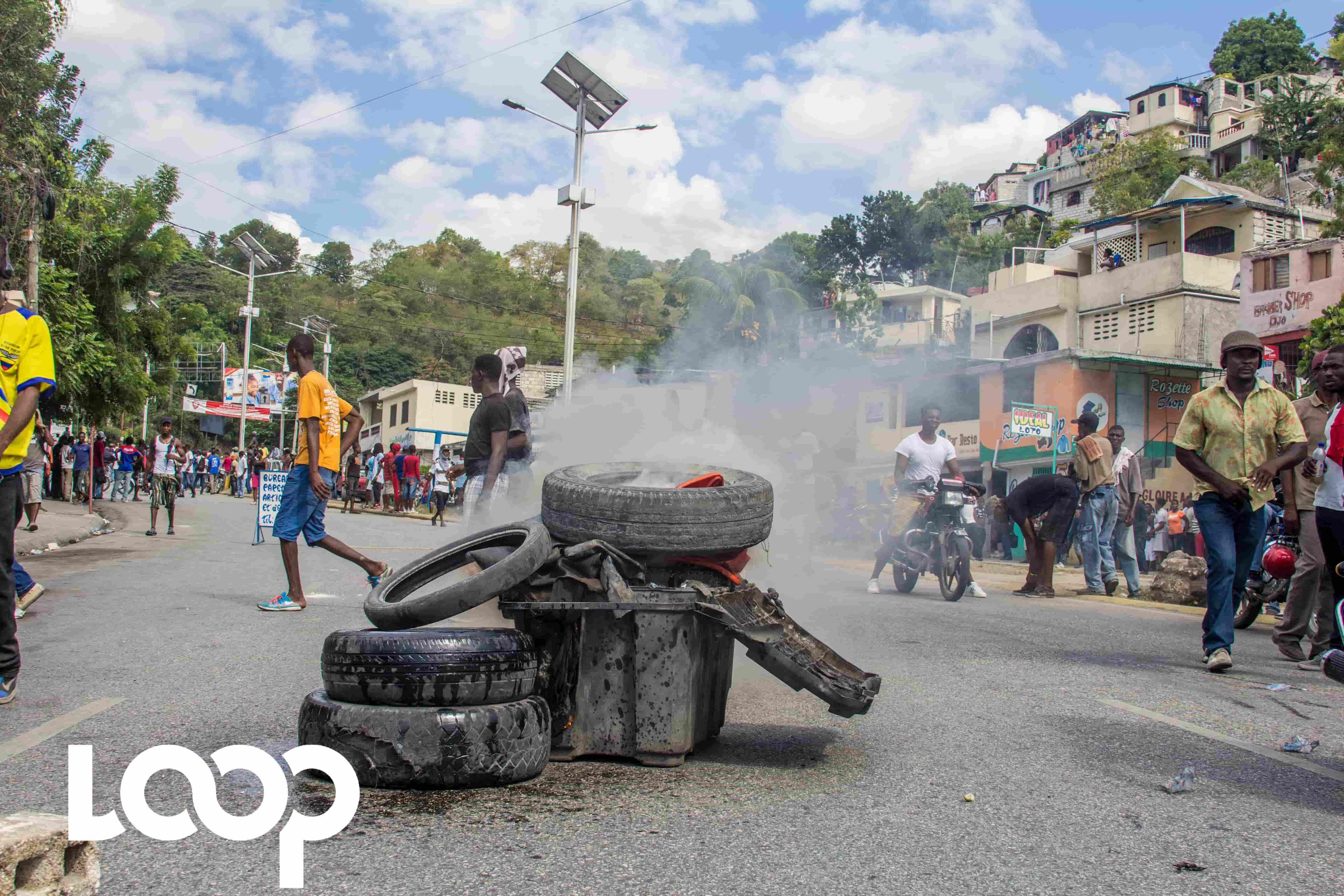 Manifestation à Petit-Goâve contre la cherté de la vie. Photo prise lors de la manifestation du 30 septembre 2017, à Port-au-