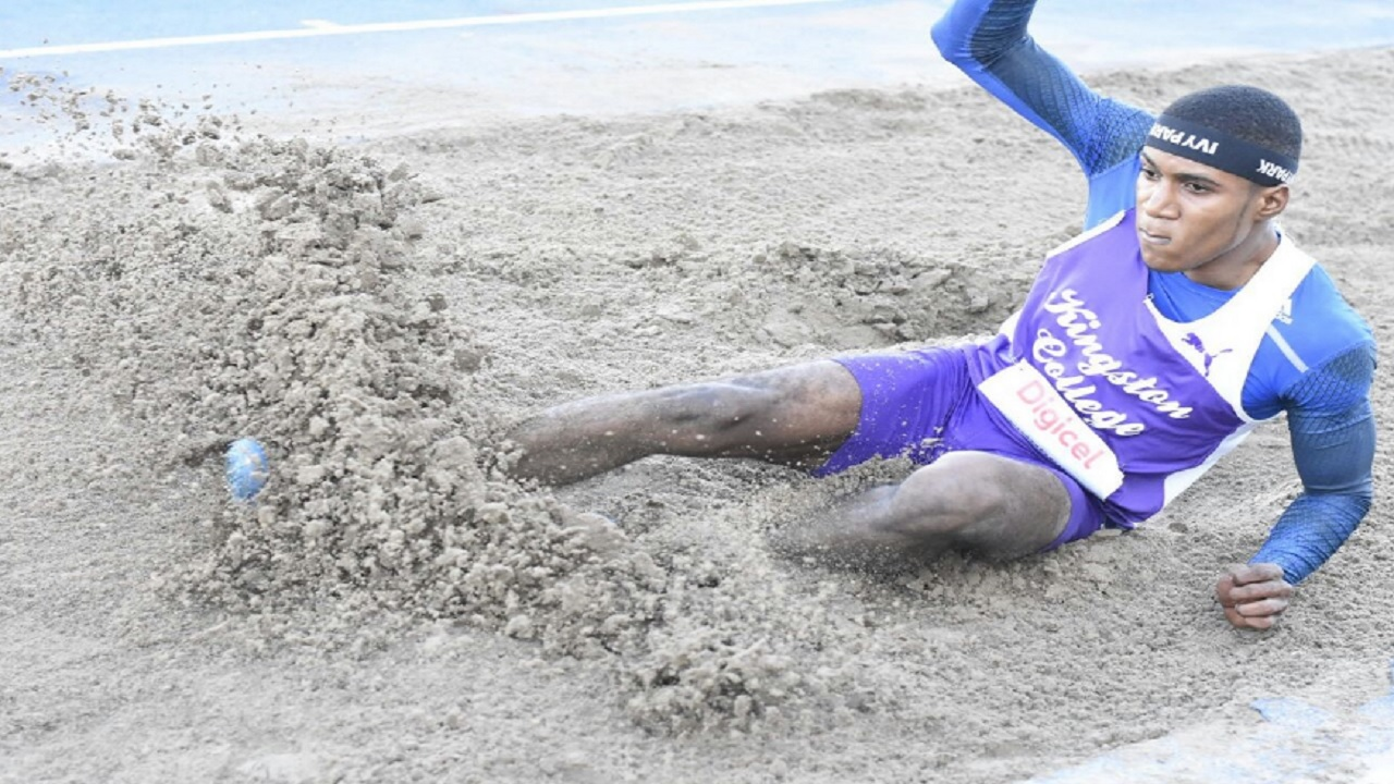 Jamaica's Wayne Pinnock looks capable of winning a medal after a superb national U20 record of 7.99m earlier this year.  (PHOTO: Marlon Reid).