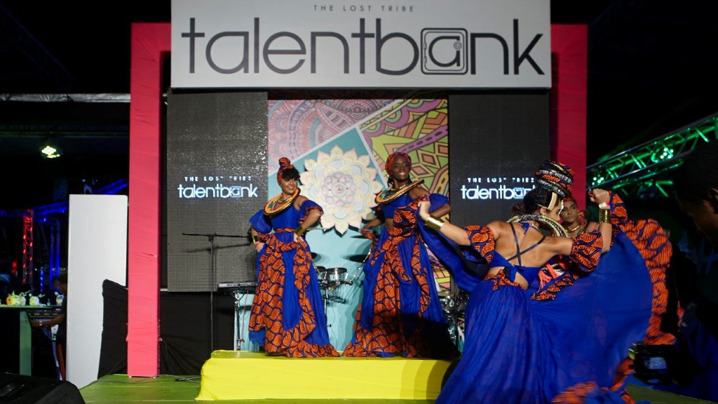 Dancers perform on the Talent Bank stage during the Festival of the Bands on Saturday 21 July. Photo by Marlon James