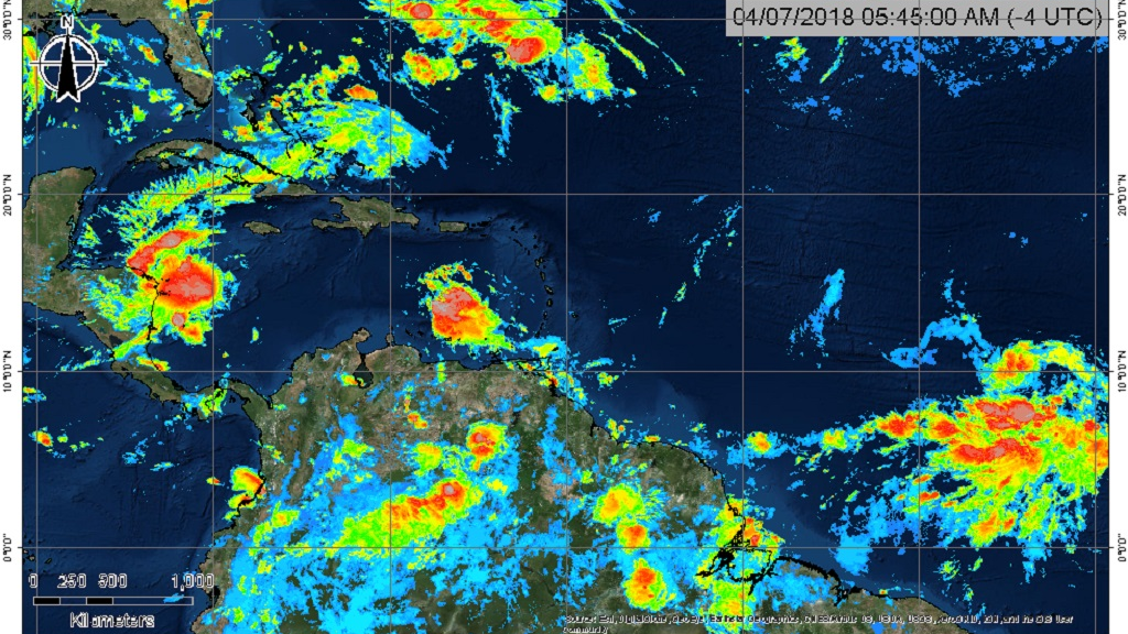 Tropical Storm Beryl forms east of Lesser Antilles