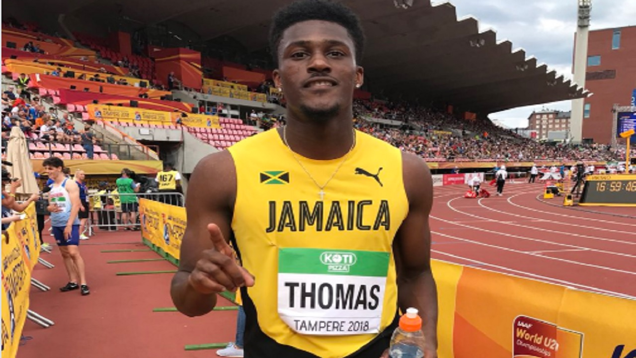 Jamaica's Damion Thomas of Louisiana State University will compete in the men's 110m hurdles final on Thursday at the IAAF World Under-20 Championships in Tampere, Finland .
