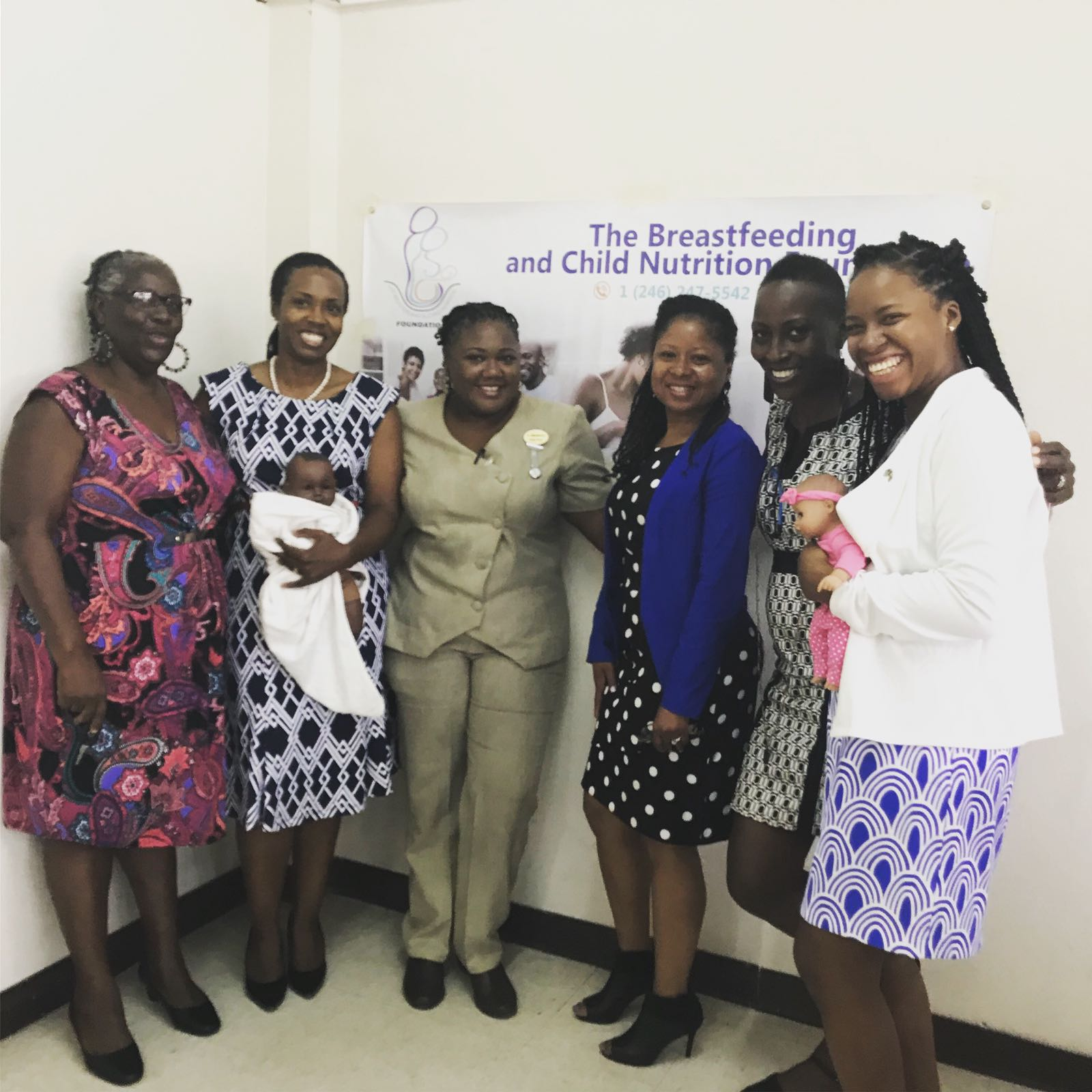 Presenters at a Breastfeeding Protection and Support Training Workshop in Barbados.