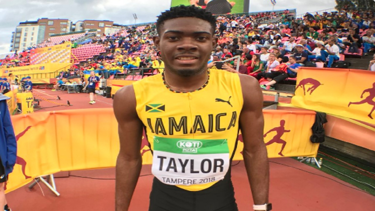 Christopher Taylor competes in the men's 400m final on day four of the IAAF World Under-20 Championships in Tampere, Finland on Friday.