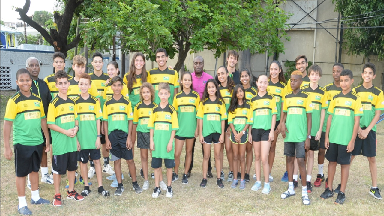 Members of Jamaica's Junior National squash team who are competing at the 2018 JN General Insurance Caribbean Area Squash Association's (CASA) Junior Championships at the Liguanea Club in Kingston.