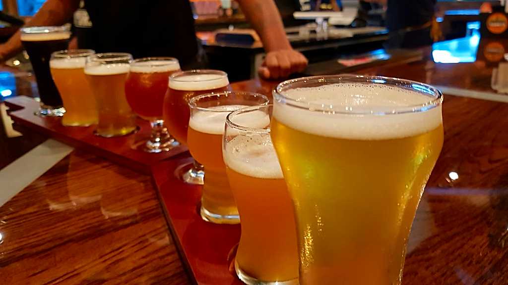 Photo: A selection of craft beers brewed by local microbrewery Tommy's Brewing Company, opens at Movietowne Port of Spain from July 30, 2018.