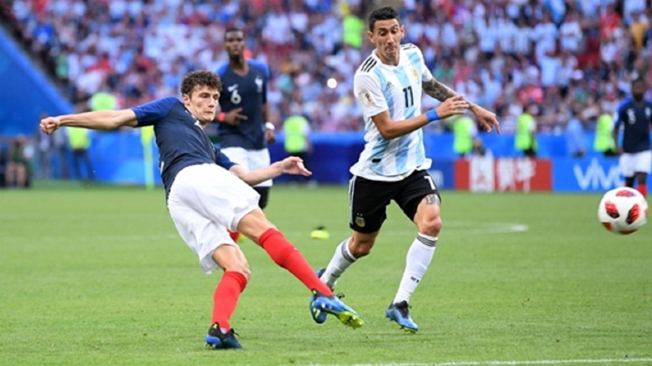 Benjamin Pavard scores a screamer against Argentina.