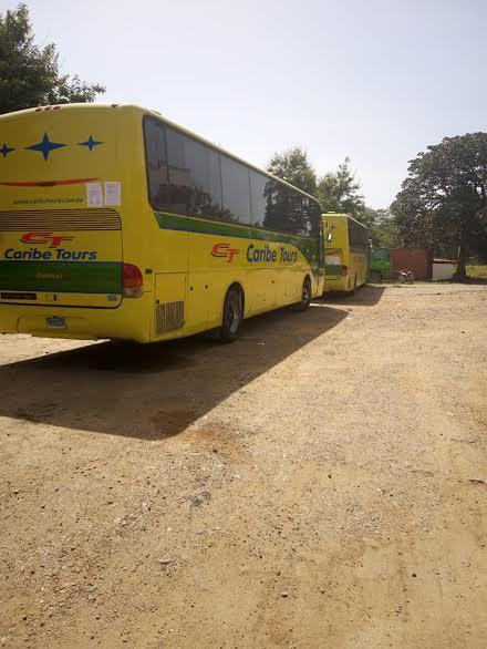 2 autobus de Caribe Tours détenus par la Police de Ouanaminthe. Photo: El Caribe