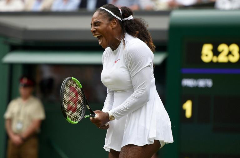 Serena Williams, juillet 2018, à Wimbledon