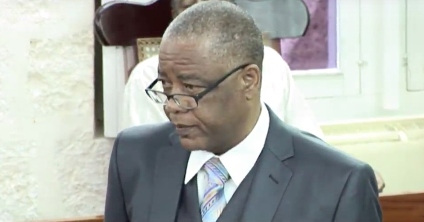 Opposition Senator Caswell Franklyn.