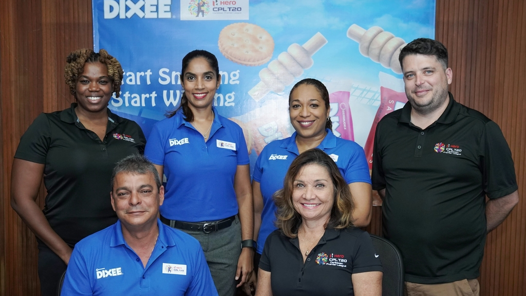 From left to right: Leisel Douglas, PR Officer CPL; Lisa Ramdeen, Marketing Manager Bermudez; Candii Alleyne, DIXEE Brand Manager Bermudez; Peter Miller, Head of PR & Communications CPL. 