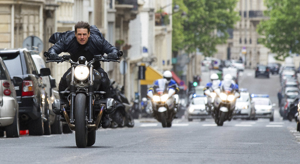"This image released by Paramount Pictures shows Tom Cruise in a scene from ""Mission: Impossible - Fallout."" (Chiabella James/Paramount Pictures and Skydance via AP)"