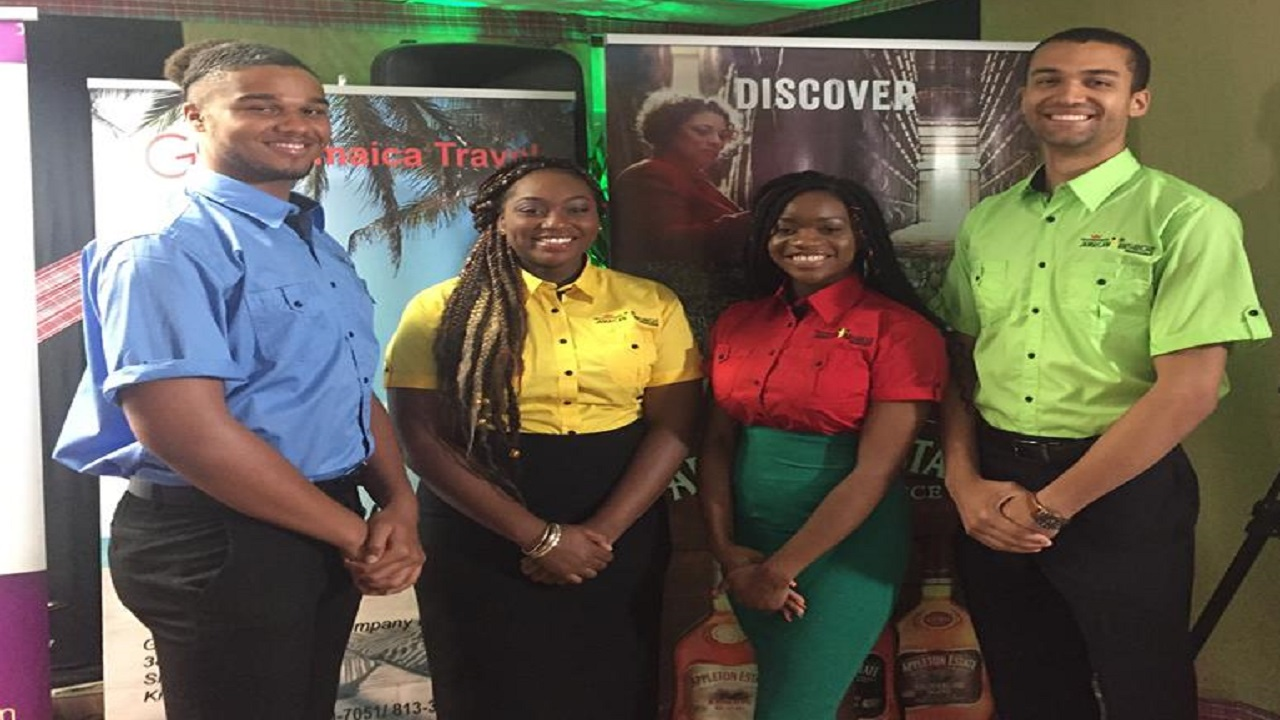 GraceKennedy Jamaican Birthright Programme interns (from left) are Joshua Tulloch, Anastacia Davis, Kayla Green and Keenan Nembhard. Photo via GraceKennedy, Facebook.