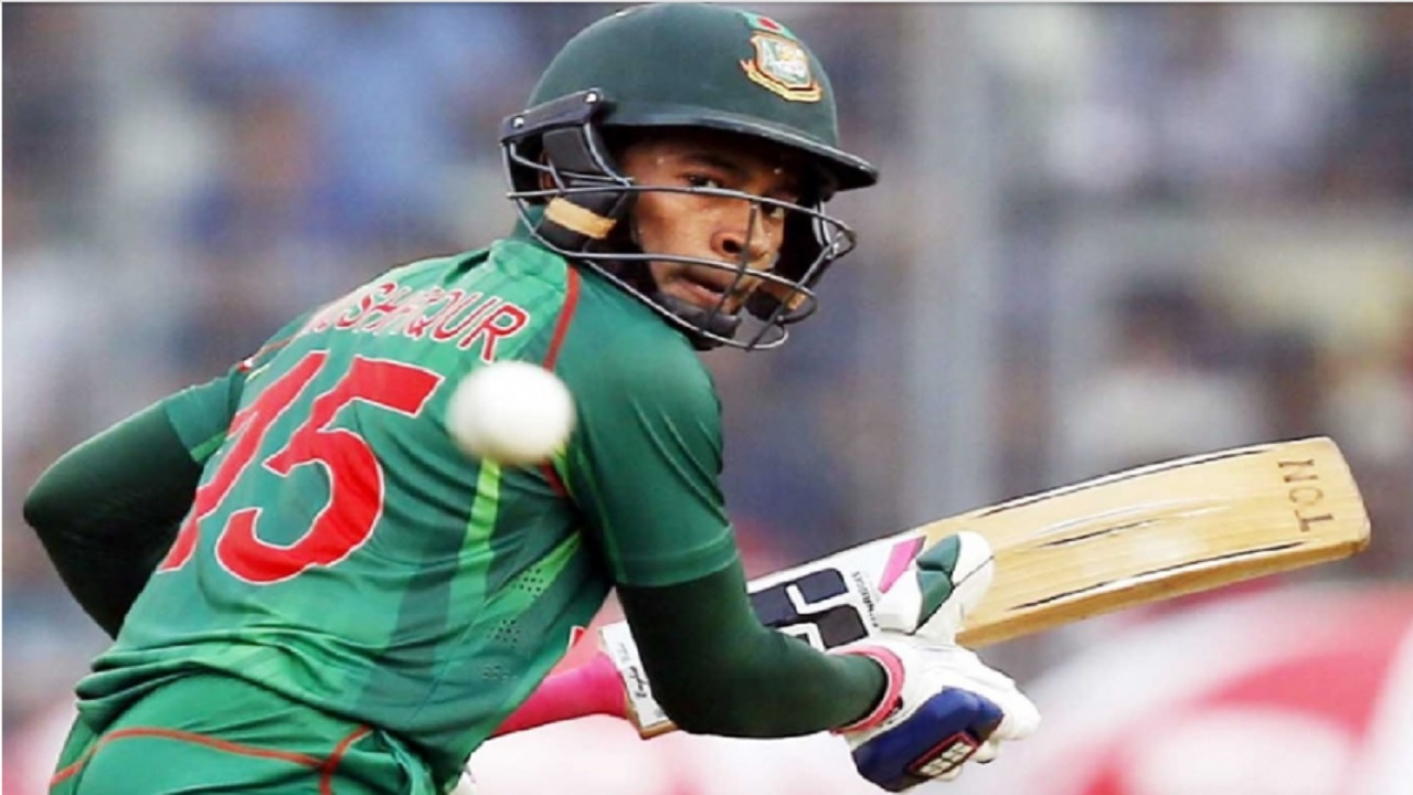 Mushfiqur  Rahim scored an unbeaten 75 for Bangladesh.