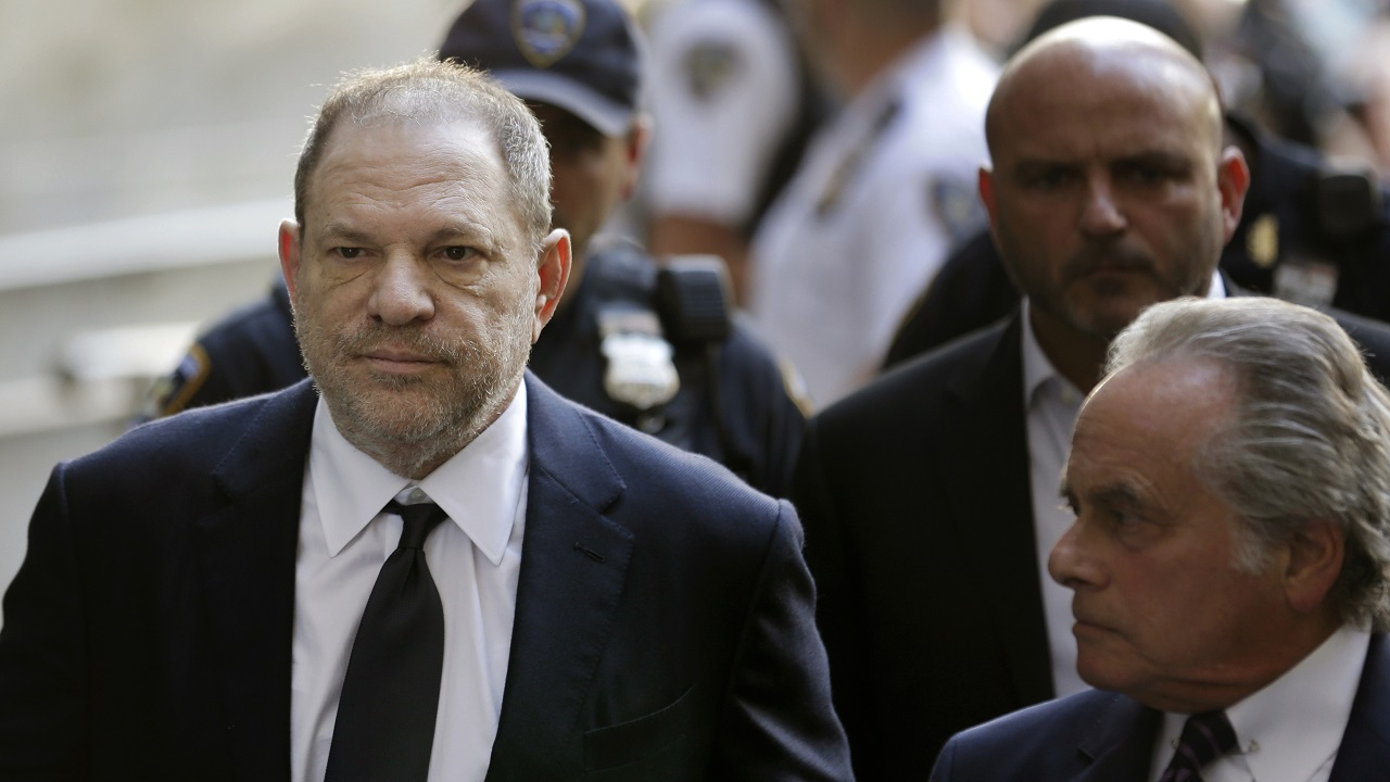 (Image: AP: Harvey Weinstein, pictured on 5 June 2018)