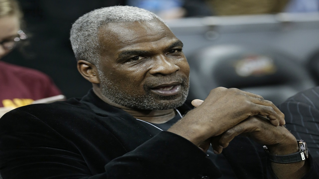 In this Feb. 23, 2017, file photo, former New York Knicks player Charles Oakley is shown before an NBA basketball game between the Knicks and the Cleveland Cavaliers, in Cleveland.