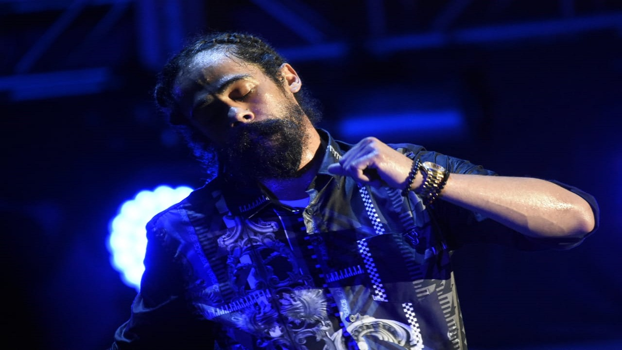 Damian Marley performs at Reggae Sumfest 2018 on Sunday morning. (PHOTOS: Marlon Reid)