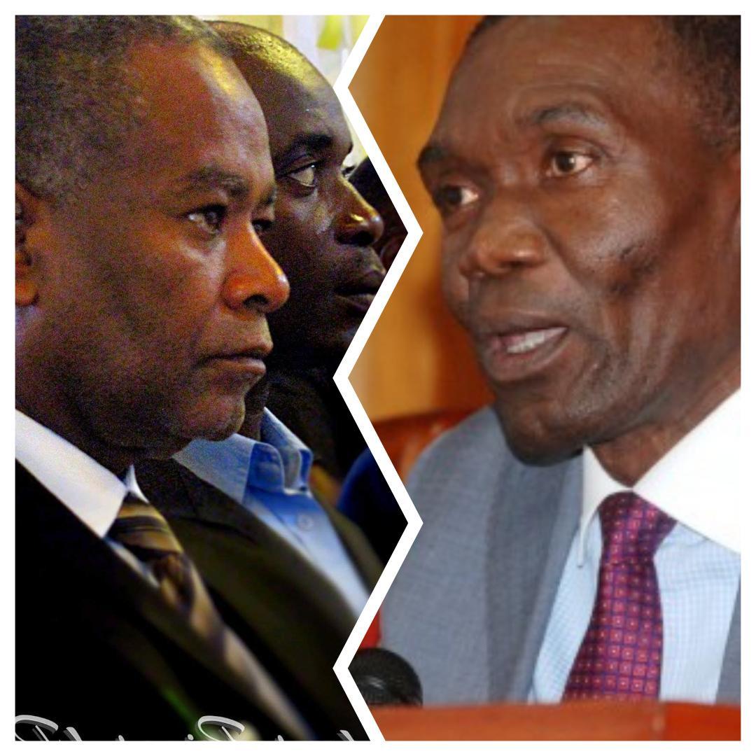 les sénateurs Ricard Pierre et Joseph Lambert/ Collage: Loop Haiti