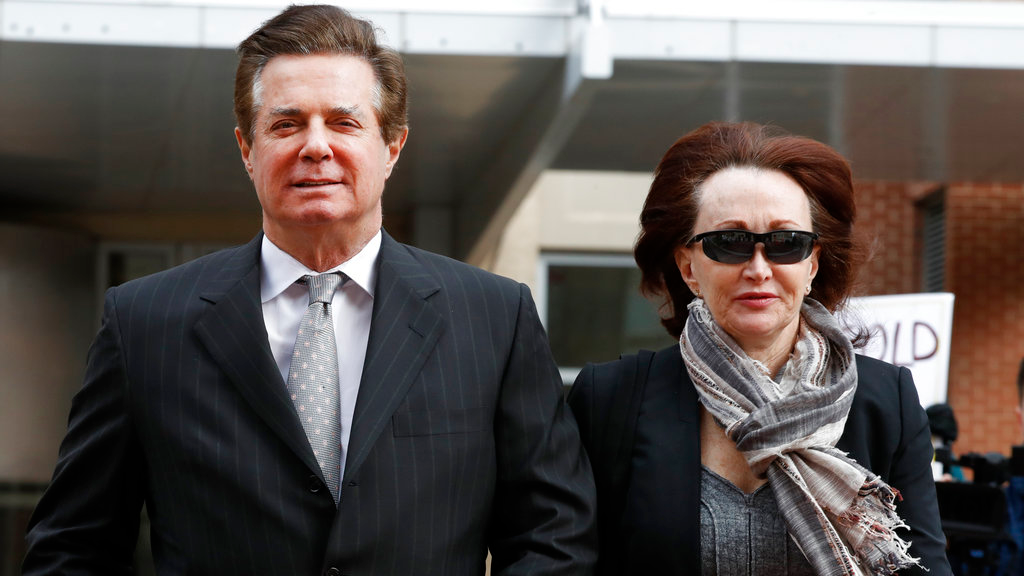 n this March 8, 2018, file photo, Paul Manafort, left, President Donald Trump's former campaign chairman, walks with this wife Kathleen Manafort, as they arrive at the Alexandria Federal Courthouse in Alexandria, Va. Jury selection is set to begin in the trial of President Donald Trump's former campaign chairman. (AP Photo/Jacquelyn Martin, File)