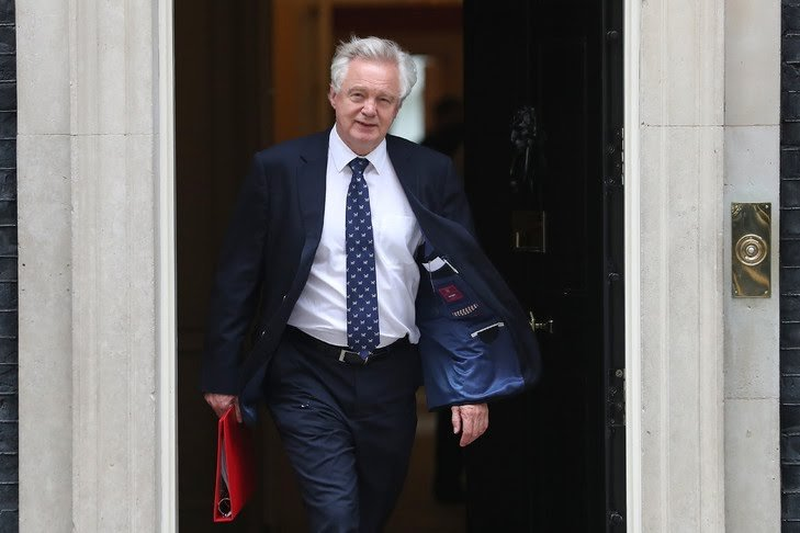 Le ministre démissionnaire britannique en charge du Brexit, David Davis, le 5 juin 2018 à Londres / AFP/Archives