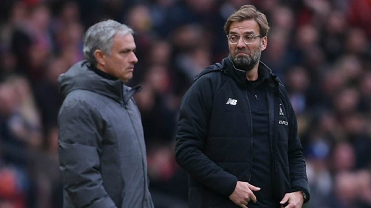 Manchester United manager Jose Mourinho and Liverpool boss Jurgen Klopp.