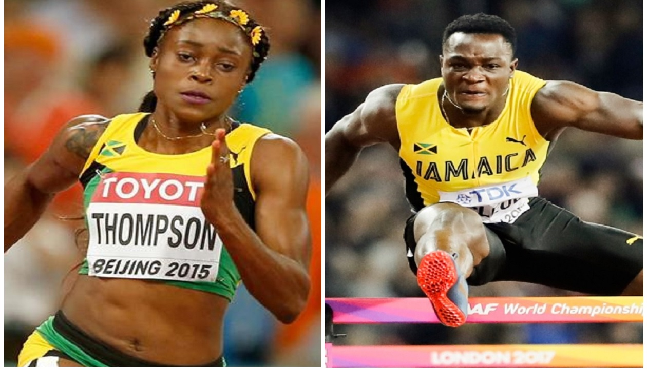 Elaine Thompson and Omar McLeod.
