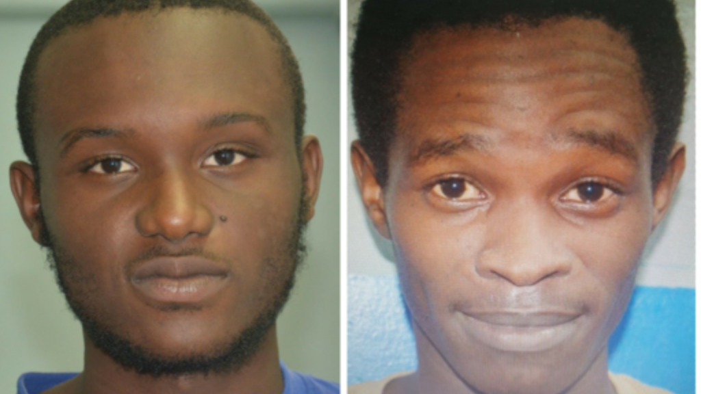 Rondell Valentine (left), Jamile Cooper (right) are charged with robbery with aggravation in relation to a June 18, 2018 incident.