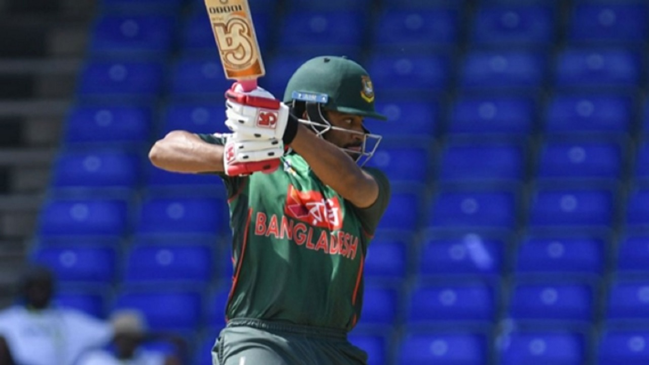 Tamim Iqbal in action for Bangladesh.