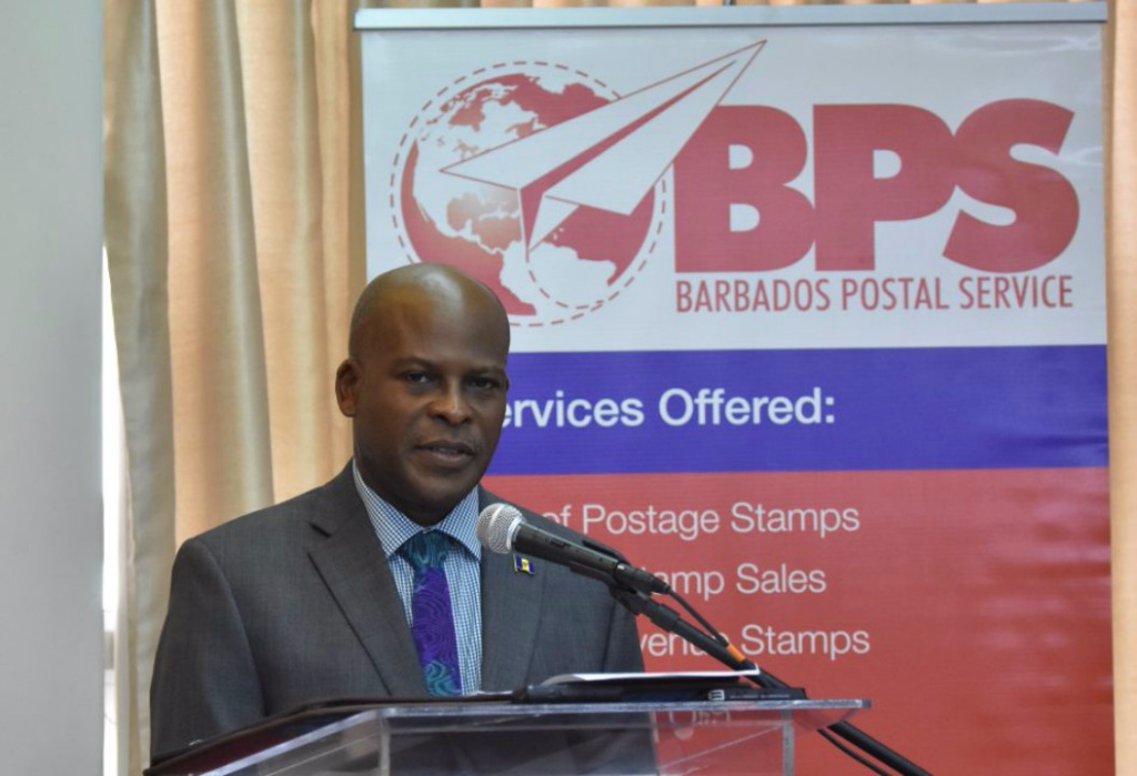 Minister of Home Affairs, Edmund Hinkson, stated that the Prepaid Postcards would increase the visibility of Barbados' tourism industry when they are posted to destinations across the globe. (C. Pitt/BGIS)