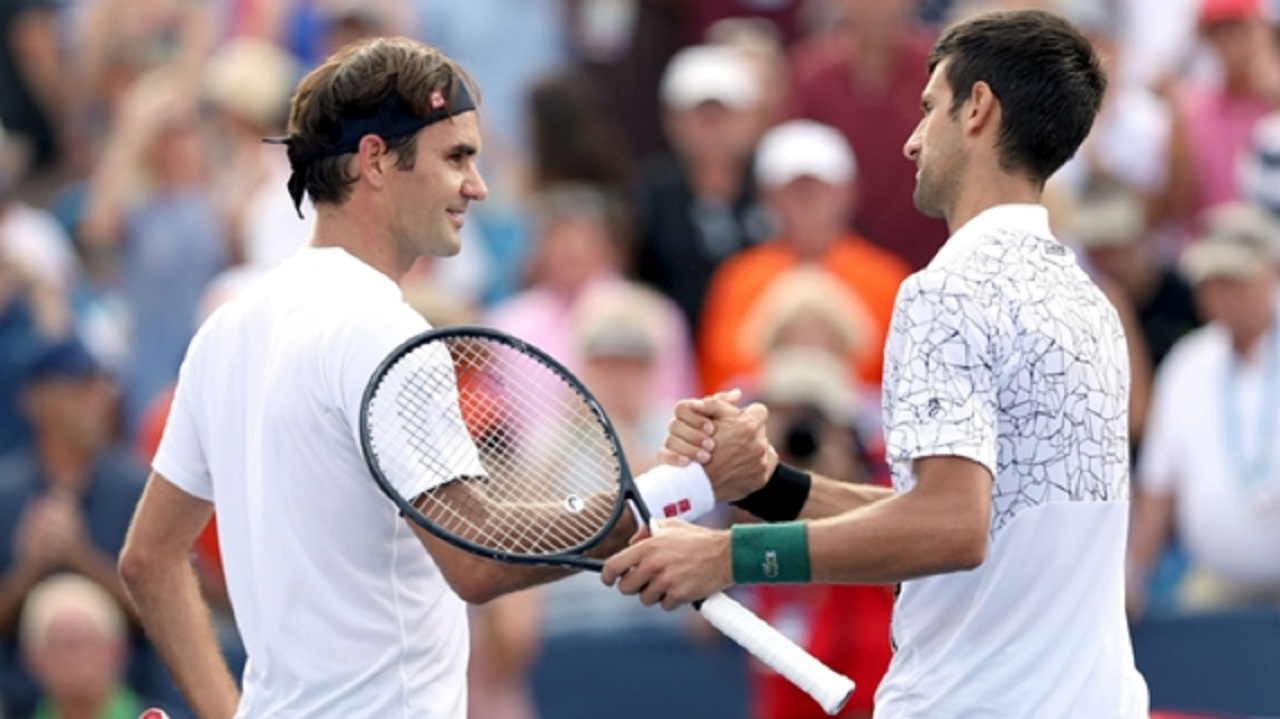 Roger Federer and Novak Djokovic.