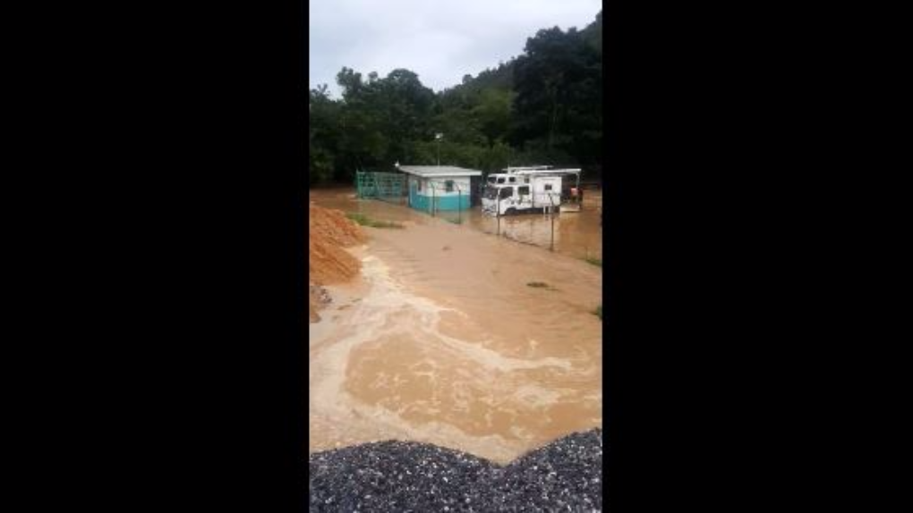 WASA Water Treatment Plant hit by floods in September 2017.