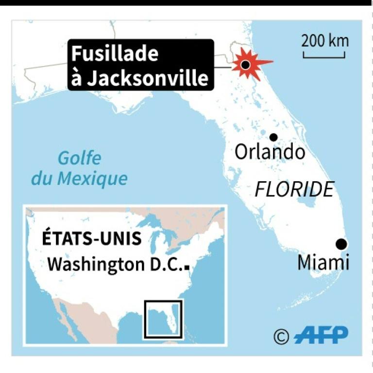 La zone où a eu lieu la fusillade dans un tournoi de jeu vidéo à Jacksonville, en Floride, le 26 août 2018