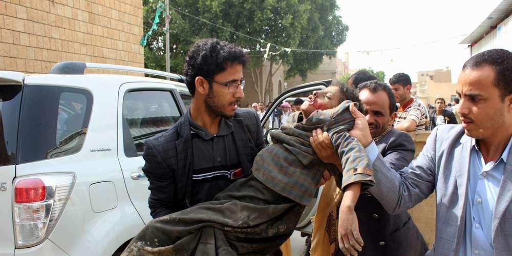 La coalition dirigée par l'Arabie saoudite intervient au Yémen en soutien aux forces du président Abd Rabbo Mansour HadiSTRINGER AFP