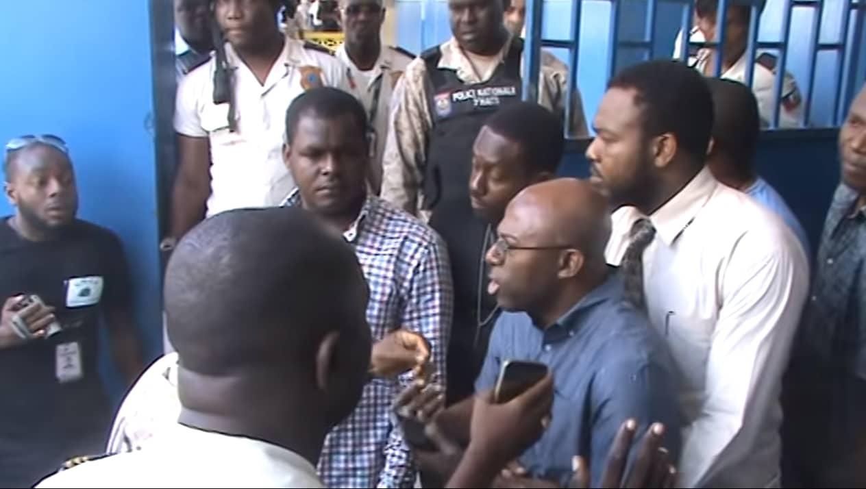 Tension à la prison de Jacmel. Sur ce screenshot, le sénateur du Sud-Est, Dieupie Cherubin./Photo: misisonpourhaiti