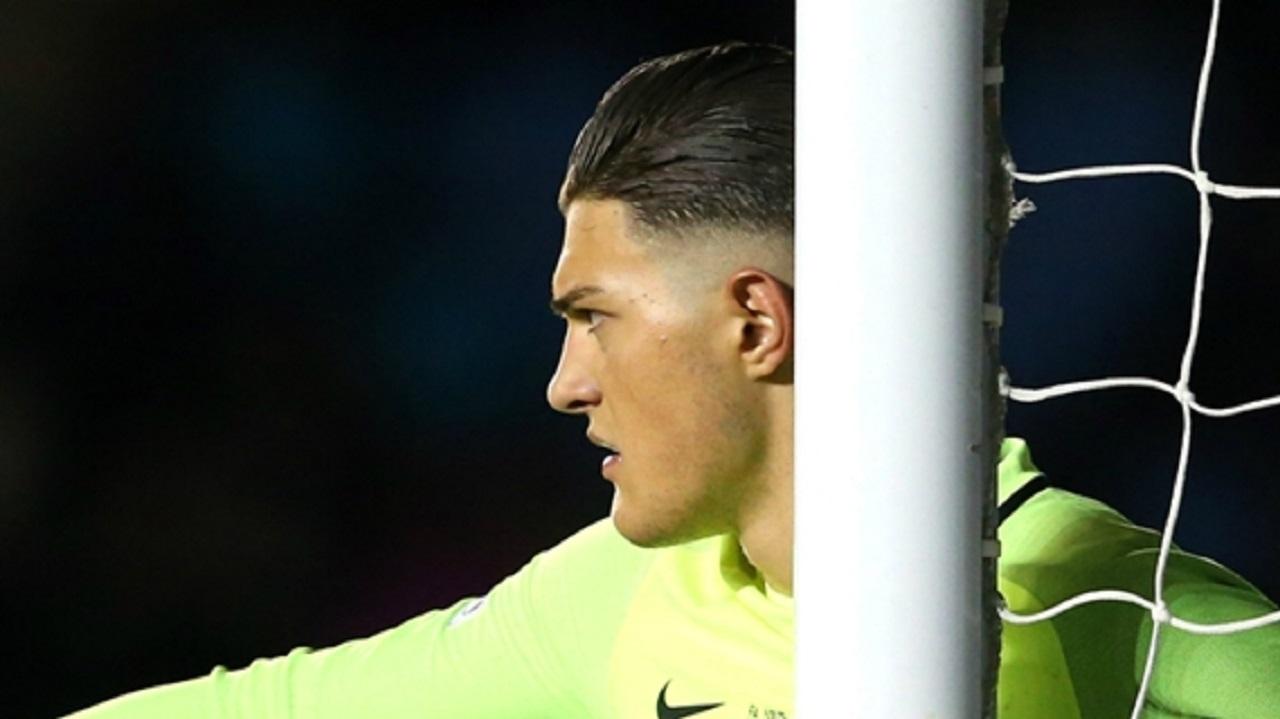 Manchester City goalkeeper Aro Muric.