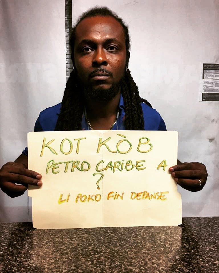 Le rappeur engagé K-libr a popularisé #Petrocaribechallenge lancé le 14 août par le cinéaste Gilbert Mirambeau Jr