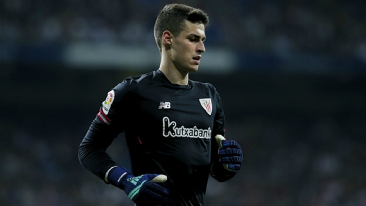 Kepa Arrizabalaga in action for Athletic Bilbao.
