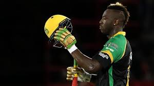 Russell hit 121 not out and took a hat-trick against Trinbago Knight Riders on Friday