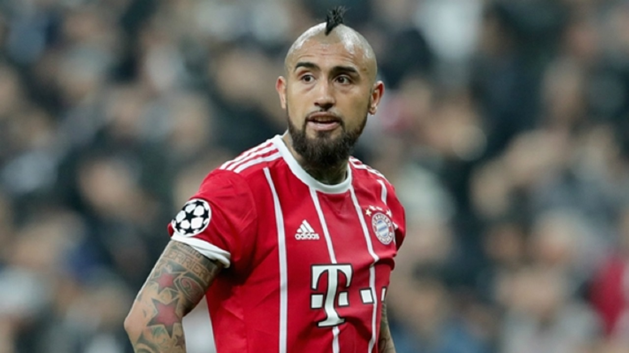 Arturo Vidal in action for Bayern Munich.
