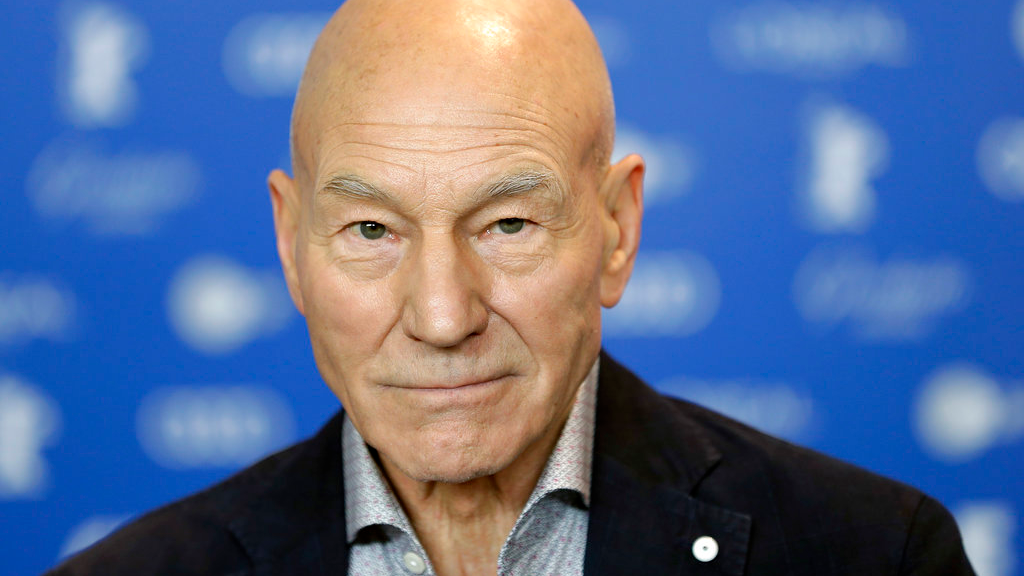 "In this Friday, Feb. 17, 2017, file photo, actor Patrick Stewart attends a press conference for the film ""Logan"" at the 2017 Berlinale Film Festival in Berlin, Germany. Stewart is boldly going where he's been before - ""Star Trek."" CBS All Access said Saturday, Aug. 4, 2018, Stewart has been tapped to headline a new ""Star Trek"" series, reprising his ""Star Trek: The Next Generation"" character, Captain Jean-Luc Picard. (AP Photo/Michael Sohn, File)"