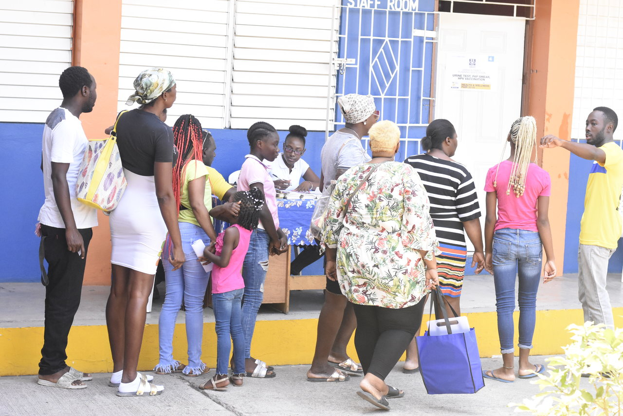 """The West Kingston Power Partners hosted its annual free health and wellness fair at the Tivoli Gardens High School under the theme, """"Live Healthy, Live Long""""."""
