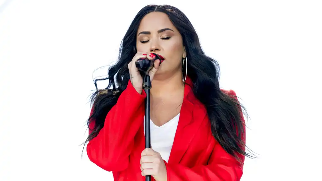 "In this Saturday, March 24, 2018, file photo, Demi Lovato performs ""Skyscraper"" during the ""March for Our Lives"" rally in support of gun control in Washington. (AP Photo/Andrew Harnik, File)"