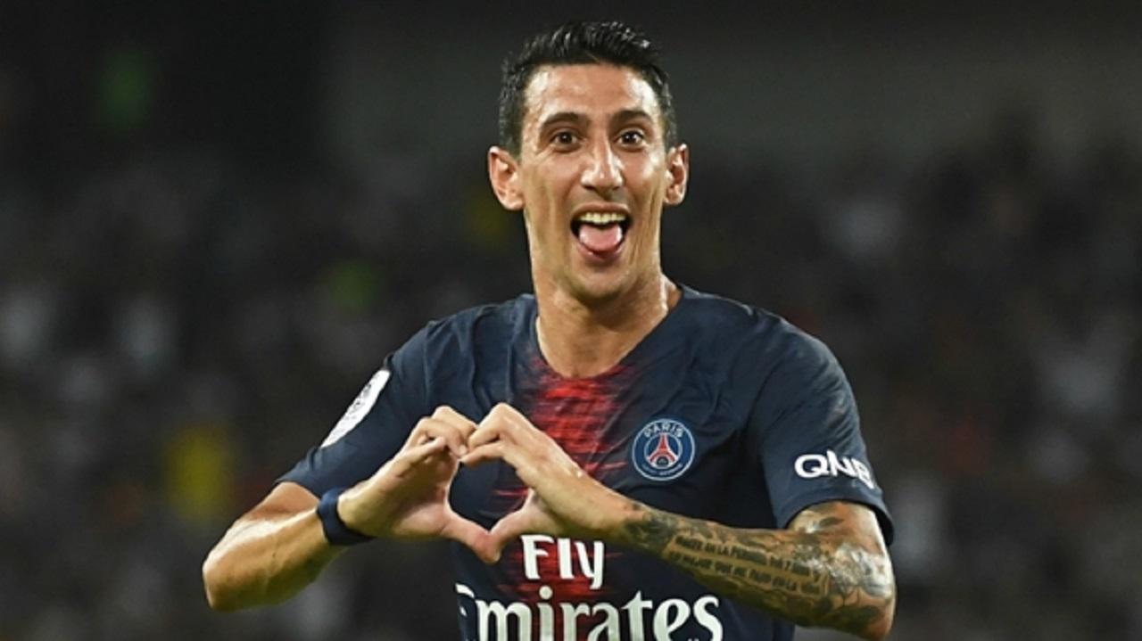 Paris Saint-Germain midfielder Angel Di Maria.